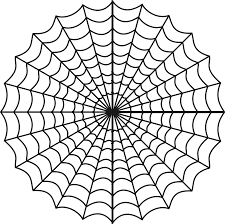 spider web clipart halloween coloring pencil and in color spider