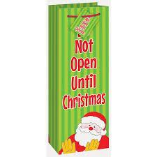 wine gift bag do not open until christmas wine gift bag walmart