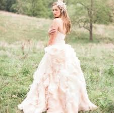 pink romantic wedding dress