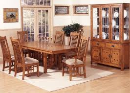 oak dining room set mission oak finish casual dining room table w options