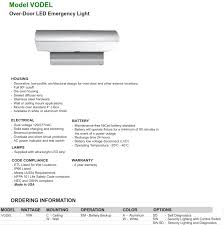 nfpa 101 emergency lighting vodel over door l e d emergency light decorative low profile