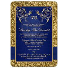 blue and gold ribbon printed ribbon and jewels photo template gold navy blue 75th