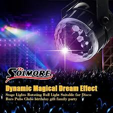 mini disco ball light solmore 5w mini disco lights party lights disco ball lights 7 colors