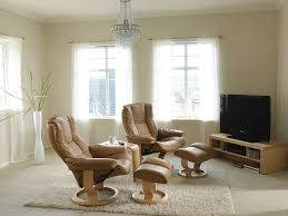 stressless mayfair recliner in paloma leather color taupe with