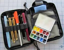 sketching kit travel brushes pocket organizer and mechanical