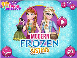 frozen sisters rapunzel students dress gameplay hd https