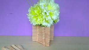 A Flower Vase How To Make A Flower Pot With Ice Cream Sticks At Home Very