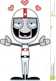 cartoon race car cartoon race car driver robot hug stock vector image 55524795