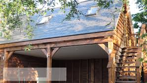 hand build architectural wood framework model house timber frame post and beam buildings garages carports balconies