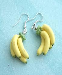 food earrings banana bunch earrings food jewelry on luulla