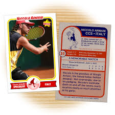 custom tennis cards retro 75 series cards