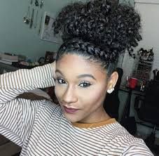top bun twist natural hair black hairstyles pinterest top