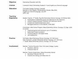 curriculum vitae exle for new teacher resume rare objectives for teacher resumes esl objective teaching