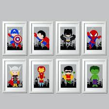 Toddler Superhero Bedroom Metal Wall Decor Target Print Superhero For Boys Art Sign Room