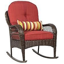 amazon com grand patio weather resistant wicker rocking chair