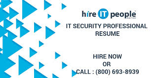 it security professional resume hire it people we get it done