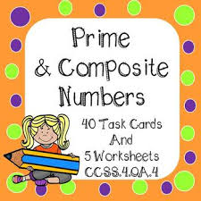 prime and composite numbers task cards and worksheets by 4th grade