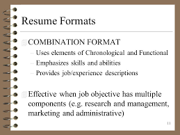 resume combination format sample resume format for fresh