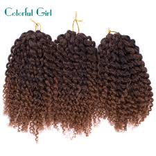 Curly Braiding Hair Extensions by Senegal Twist Crochet Braid Hair Extension 8inch Short Curly Braid