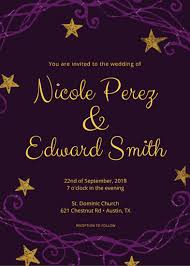 purple and gold wedding invitations purple and gold wedding invitation templates by canva
