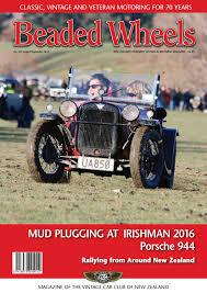 beaded wheels august september 2016 by vintage car club of new