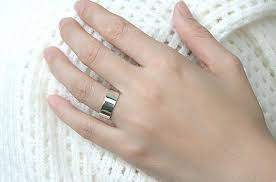 wedding ring names custom finger ring band ring sterling silver personalized ring