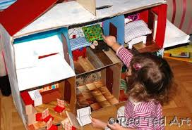My Homemade Barbie Doll House by How To Make A Cardboard Dolls House Red Ted Art U0027s Blog