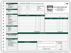 Landscaping Invoice Template by 6570 Landscaping Work Order Invoice Form Landscaping Forms