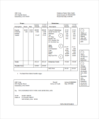 Pay Stub Template Excel Sle Pay Stub Template Excel