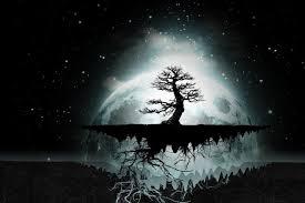 diy frame abstract trees moon digital artwork