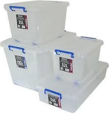 Large Clear Storage Containers - plastic storage boxes ebay