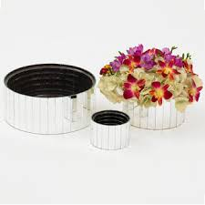 Mirrored Cube Vases Containers U0026 Vases Floral Supply Syndicate Floral Gift Basket