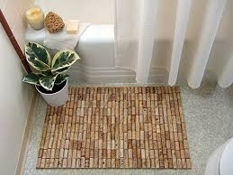 Jute Bath Mat Wine Cork Bath Mat Crafty Nest