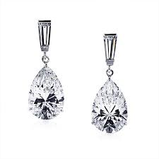 pear drop earrings carat london baguette pear drop earrings