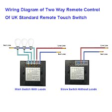 uk standard two gang 2 way remote control touch wall light