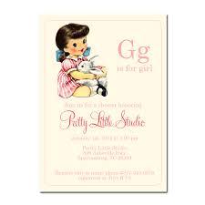 vintage baby shower invitations baby shower invitations