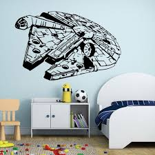 Kids Room Wall Decor Stickers by Star Wars Wall Stickers Millennium Falcon Fight Home Decor Diy
