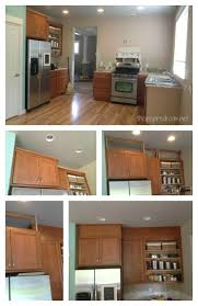 how to paint above kitchen cabinets filling in that space above the kitchen cabinets