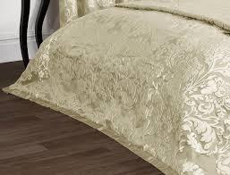 Damask Bedding Luxury Charleston Jacquard Damask Bedspread In Cream Lancashire