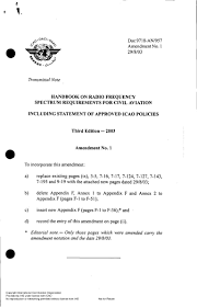 doc 9718 handbook on radio freq spectrum req for civil aviation