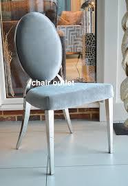 oval back silver velvet luxury glamour chrome art deco shabby chic