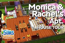 the sims freeplay monica and rachel u0027s apartment f r i e n d s