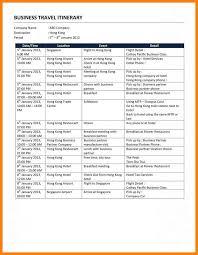 vacation itinerary template eliolera com