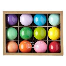 all the colors of the rainbow ornaments from the land of nod