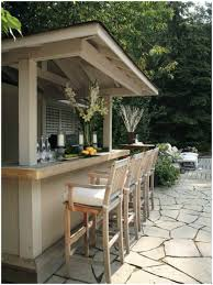 backyards trendy wooden outdoor bar ideas small 120 simple