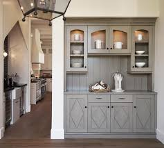 Pantry Cabinet Doors by Gray Chicken Wire Butler Pantry Cabinets Transitional Kitchen