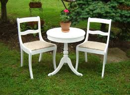 White Bistro Table Stylish White Bistro Table And 2 Chairs White Vintage Shab Chic