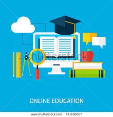 design online education online education concept flat design vector stock vector hd royalty