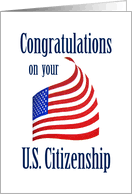 citizenship congratulations card congratulations on becoming a u s citizen from greeting card universe