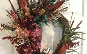 african wreath grapevine wreath hydrangea wreathfall dry